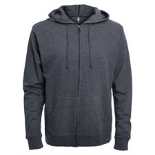 INITIAL-UNISEX HOODED FULL ZIP SWEATER