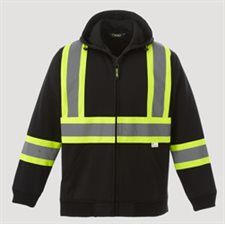 Freedom-Men's Hi vis Full Zip Polyester Fleece Hoodie