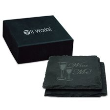 SQUARE SLATE COASTER (SET OF 2)