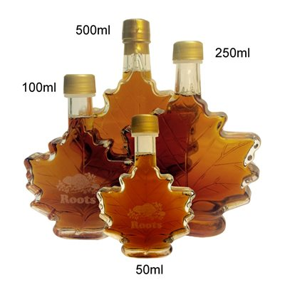MAPLE SYRUP IN LEAF BOTTLE-50 ml